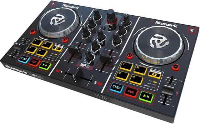 Numark Party Mix with Built-In Sound Card and Light Show, and Virtual DJ LE Software Download