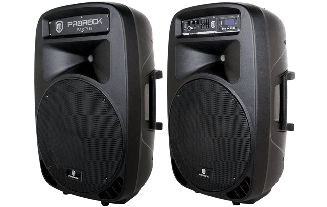 speakers 15. proreck party 15 portable speakers