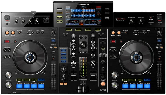 A DJ Controller ready to be set-up