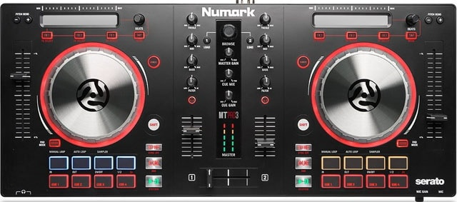 Numark Mixtrack Pro 3 USB with Trigger Pads and Serato DJ Intro Download with Built-in Sound Card