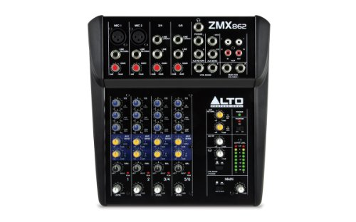 Alto Professional ZMX862 | 6-Channel 2-Bus with 12 Inputs, 3-Band EQ per Channel & +48V Phantom Power