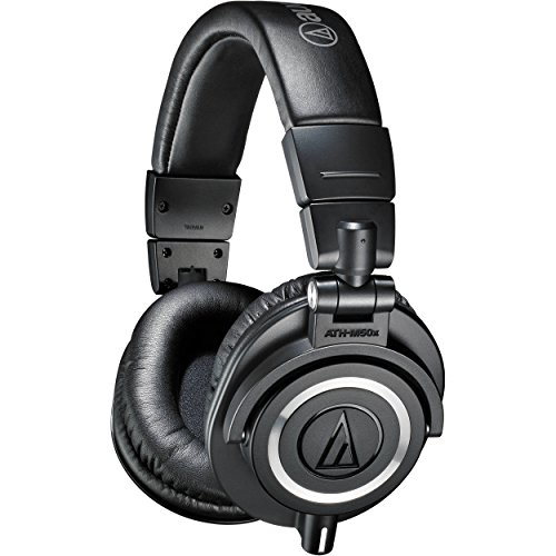 Audio-Technica ATH-M50x Professional Studio Monitor Headphones -Black