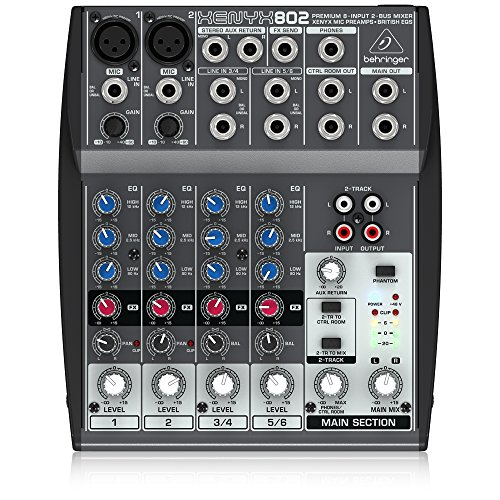 Behringer Xenyx 802 Premium 8-Input 2-Bus with Xenyx Mic Preamps and British EQs