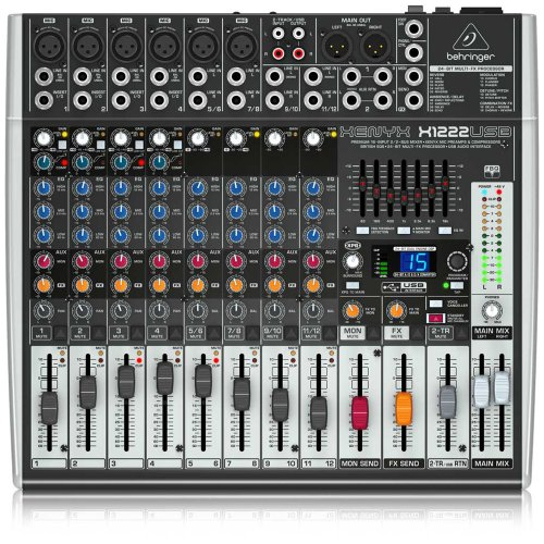 Behringer Xenyx X1222USB Premium 16-Input 2/2-Bus with XENYX Mic Preamps and Compressors