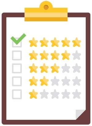 checklist with star rating