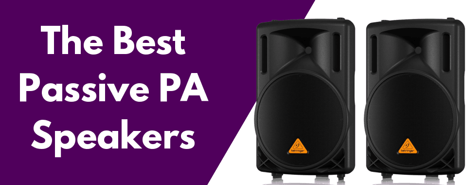 the best passive pa speakers featured image