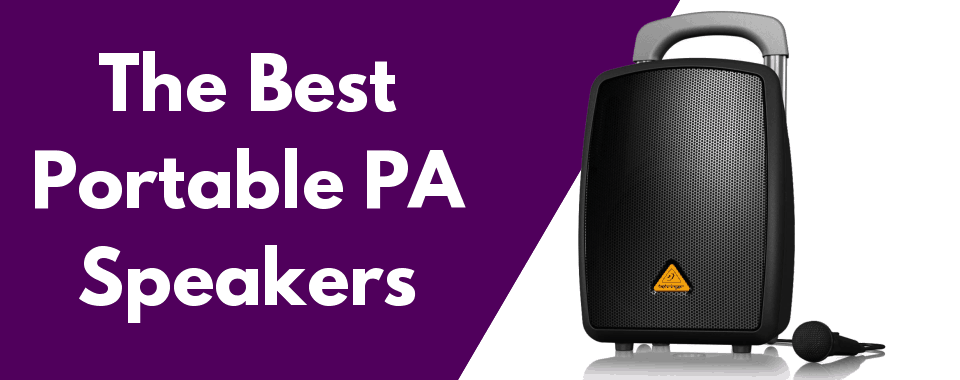 the best portable pa speakers featured image