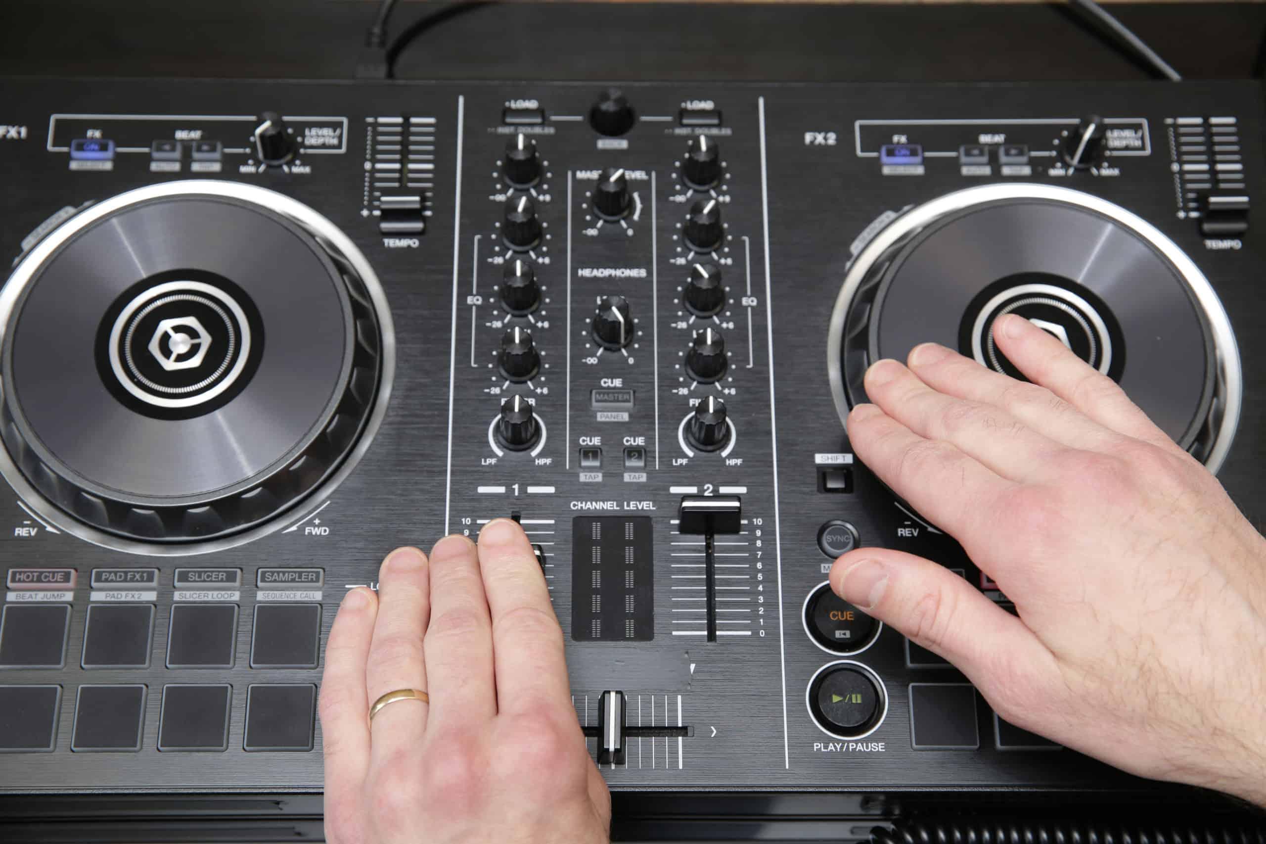 DJ controller set up